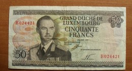 1972 - Luxembourg - 50 CINQUANTE FRANCS, 25 AOUT 1972, B 024421 - Lussemburgo