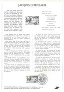 NOTICE PTT 1981 JACQUES OFFENBACH - Documenten Van De Post