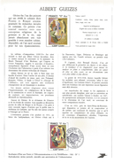 NOTICE PTT 1981 ALBERT GLEIZES - Documents Of Postal Services