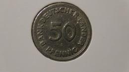 """Germany - 1949 - 50 Pfennig - Mintmark """"D"""" - Munich - Bank Deutscher Länder - KM 104 - VF - Look Scans - [ 7] 1949-… : FRG - Fed. Rep. Germany"""