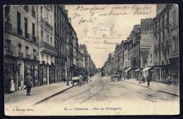 CPA PRECURSEUR- FRANCE- VERSAILLES (78)- RUE DE L'ORANGERIE EN 1900- BELLE ANIMATION- ATTELAGES- TRAMWAY- COMMERCES - Versailles