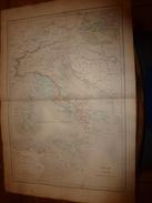 1861 Carte Géographique: ITALIE ANCIENNE , ITALIE CENTRALE (pour Le Commencement De ROME) - Geographical Maps
