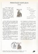 NOTICE PTT 1981 PRIMATIALE SAINT JEAN DE LYON - Postdokumente