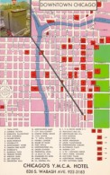 Chicago's Y M C A Hotel And Map Of Downtown - Maps