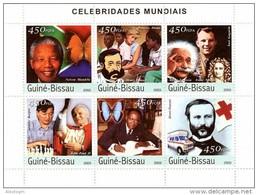 GUINEA BISSAU 2003 - A. Karpov, Celebrities - Mi 2421-6, YT 1300-5 - Schaken