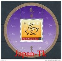 KANADA Mi. Nr. Block 27  Chinesisches Neujahr: Jahr Des Hasen - MNH