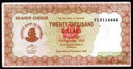 ZIMBABWE 20000 DOLLARS 2003 2005 P-30 F-VF - Zimbabwe