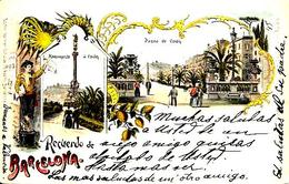 Gruss Spagna Barcellona  Fine 1800 Inizi 1900 - Saluti Da.../ Gruss Aus...