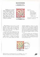 NOTICE PTT 1981 ALLELUIA DE MANESSIER - Documents Of Postal Services