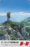 Télécarte Japon / 110-016 - Série 1000 ANS AUTRICHE - Montagne - Mountain Japan Phonecard - AUSTRIA Rel Telefonkarte  03 - Mountains