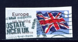 GREAT BRITAIN -  Post And Go Label On Piece   Variety As Shown In Scan - Post & Go Stamps
