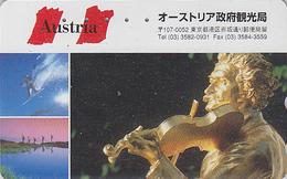 Télécarte Japon / 110-016 - Série 1000 ANS AUTRICHE - Musique STRAUSS & Violon - Japan Phonecard - AUSTRIA Rel TK - 10 - Musique