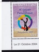 BURKINA FASO. 2004. SOMMET DE LA FRANCOPHONIE