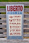 LIBERTO  -  Plaque Publicitaire En Tôle - Advertising (Porcelain) Signs