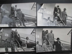 LOT 4 PHOTOS AVIATION (M1701) ITALIE 1953 (1 Vues) Sortie De L'avion MILANO ROMA - Aviazione