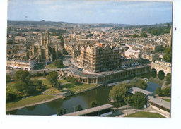 S2778 Postcard: Somerset > Bath - Aerial View Of The Abbey + NICE STAMP AND AIR MAIL ADESIVE 1991 _ Aerea, Arienne - Bath