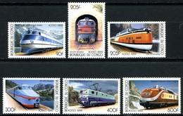 Kongo Kinshasa Mi. 1684 / 1689  Lokomotiven  ** / MNH - Treni