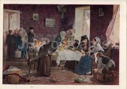Painting By A. Korzukhin - 1 - In The Monastery Hotel , 1882 - Russian Art - 1946 - Russia USSR - Unused - Schilderijen