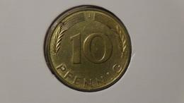 "Germany - 1972 - 10 Pfennig - Mintmark ""J"" - Hamburg - KM 108 - VF - Look Scans - 10 Pfennig"