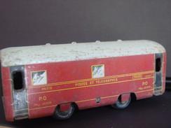 """Train-jouet :Wagon Postal En Métal """"Paris-Orléans / Postes & Télégraphes """" Ferroviaire. - Oud Speelgoed"""
