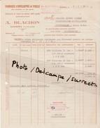 Facture A. BLACHON / Fabrique D'enveloppes De Paille Pour Distillerie / Bonbonnes / Dunières 43 Haute Loire - Altri