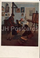 Painting By I. Pryanishnikov - In The Artist's Studio , 1890 - Russian Art - 1940 - Russia USSR - Unused - Schilderijen