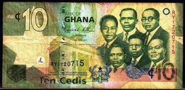 GHANA 10 CEDIS 1-7-2011 G-VG - Ghana