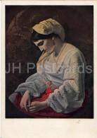 Painting By Y. Kapkov - The Bride , 1851 - Woman - Russian Art - 1940 - Russia USSR - Unused - Schilderijen