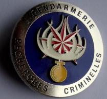 Insigne RECHERCHE CRIM. Collection Gendarmerie - Police & Gendarmerie