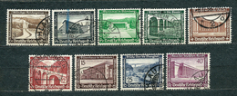 Deutsches Reich 1936, MiNr 634-642, Used (1) - Some Nice Postmarks - Allemagne