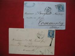 2 Lettres 1860 Et 1861 De Paris Losange K Voir Scan - Postmark Collection (Covers)