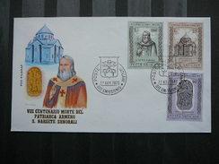 Vatican Vatikan FDC Cover 1973 #  Santas Churches Crests - FDC