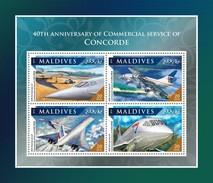 Maldives 2016, Airplanes, Concorde, 4val In BF