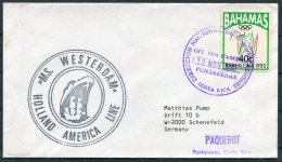 1993 Bahamas MS WESTERDAM, Holland - America Line Ship Cover. Costa Rica Paquebot - Bahamas (1973-...)