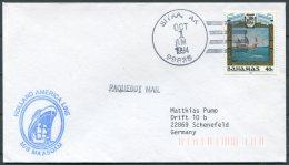 1994 Bahamas MS MAASDAM, Holland - America Line Ship Cover. Sitka, AK, USA Paquebot - Bahamas (1973-...)