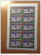 "ST - VINCENT 1987 FOOTBALL SOCCER FUSSBALL SHEET Of 10 BARCLAY´S PREMIER LEAGUE CLUB "" LEEDS UNITED "" PROOF ESSAI"