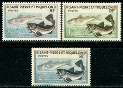 ST PIERRE ET MIQUELON SPM 1957 Fishes, Fish, Marine Life, Fauna MNH - Ungebraucht