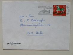 """SUISSE / SCHWEIZ / SWITZERLAND // 1983, PRO JUVENTUTE Brief Mit PRO JUVENTUTE Marke, Werbeflagge """"ZUERICHSEE"""" - Lettres & Documents"""
