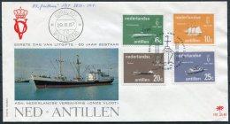 1967 Dutch Antillies 60 Jaar Bestaan, Ships FDC - Curacao, Netherlands Antilles, Aruba
