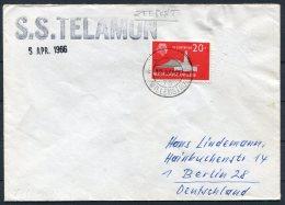1966 Dutch Antillies / Nederlandse Antillen. S.S. TELEMON Ship Cover - Curacao, Netherlands Antilles, Aruba