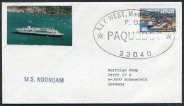 Dutch Antillies / Nederlandse Antillen. M.S. NOORDAM, Key West, Florida, USA PAQUEBOT Ship Cover. - Curacao, Netherlands Antilles, Aruba