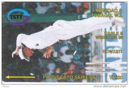 Trinidad & Tobago, 14CTTB, TT$20, Howzat!, Cricket, Sport, 2 Scans.  NB : Much Used