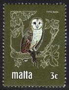 Malta Owl Mnh Stamp - Owls
