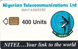 Nigeria, NGA-18c, 400 Units, Earth Station, 2 Scans.  Chip : Siemens 37  6NAIFIA - Nigeria