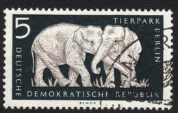 Elephants Used Stamp