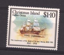 06204  -   Christmas Island  :  Yv  288  **      Bateau - Boat