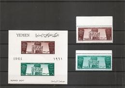 Egyptologie -Monuments De Nubie ( 233/234 + BF 6 XXX -MNH- Du Y-émen)