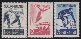 Finland   .     Yvert    200/202            .          *     .      Ongebruikt   .   /   .     Mint-hinged