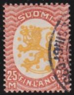 Finland    .     Yvert     121      1925-29        .          O        .        Gebruikt    .   /   .     Cancelled