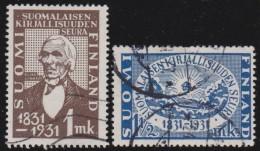 Finland    .     Yvert      159/160         .          O        .        Gebruikt    .   /   .     Cancelled
